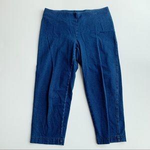 J.Jill Pure Indigo Cropped Legging Pants Sz Small